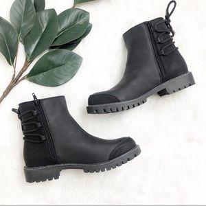 Roxy | Black Faux Leather Kearney Boots